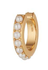 OHH LUILU Orecchini 'Aria'  bianco perla / oro