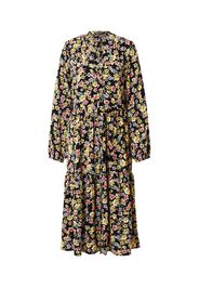 Rut & Circle Abito camicia 'ZANDRA'  nero / giallo / rosa chiaro / lilla chiaro / marrone chiaro