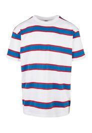 Urban Classics Plus Size Maglietta  bianco / rosso / blu cielo