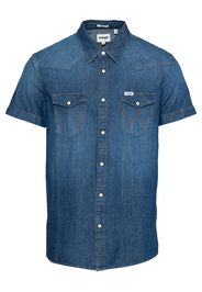 WRANGLER Camicia  blu scuro