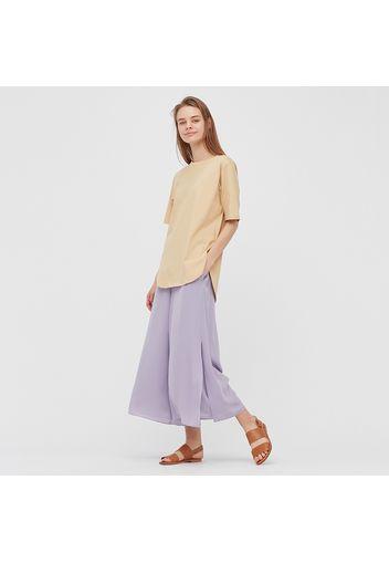 T-Shirt Cotone Liscio Taglio Lungo Donna