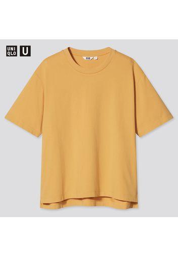 T-Shirt Uniqlo U Airism Cotone Oversized Girocollo Donna
