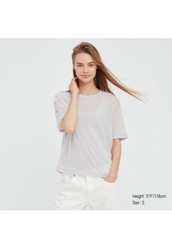 T-Shirt Trasparente Girocollo Donna