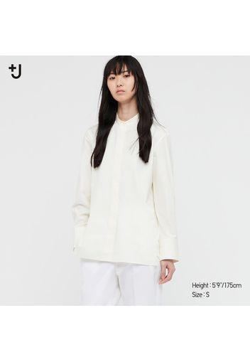 Camicia +J Cotone Supima Colletto Alla Coreana Donna