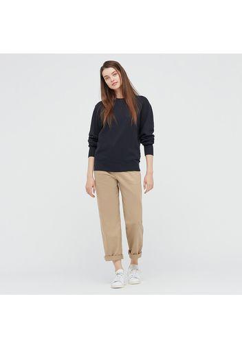 Pantaloni Chino Vita Alta Taglio Dritto Donna