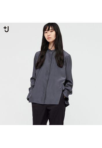 Camicia +J Seta Colletto Alla Coreana Donna