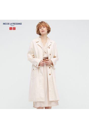 Cappotto Ines De La Fressange Cotone Taglio Lungo Donna