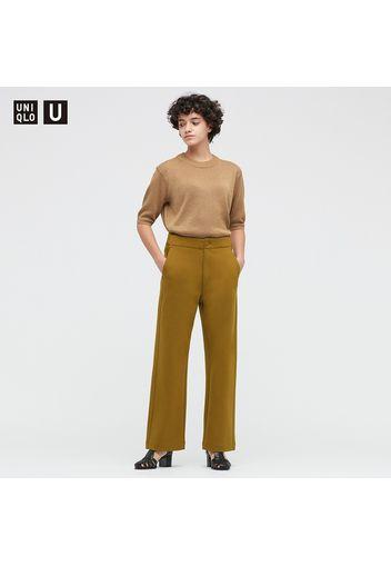 Pantaloni Uniqlo U Jersey Relax Taglio Dritto Donna