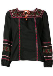 A.N.G.E.L.O. Vintage Cult 1970's embroidered blouse - Brown