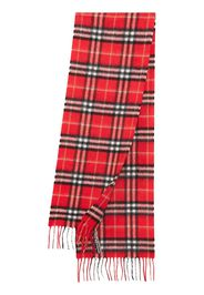 Burberry Kids The Mini Classic Vintage Check cashmere scarf - Red