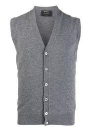 Dell'oglio sleeveless knit waistcoat - Grigio