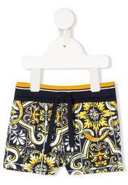 maiolica print shorts