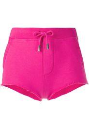 Icon print drawstring mini shorts