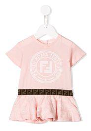 Fendi Kids logo print T-shirt dress - Pink