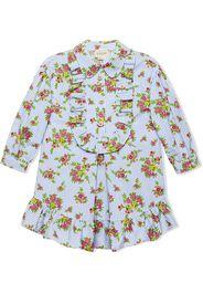 Gucci Kids Children's floral poplin dress - Blue