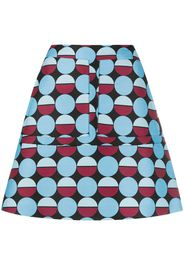 geometric print mini skirt