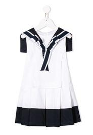 two-tone flared dress