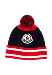 logo embroidered beanie hat