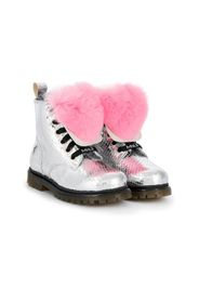 pompom ankle boots