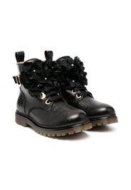 lace-up goatskin boots