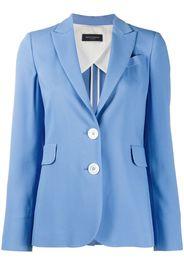 peak lapel single breasted jacket