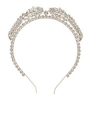 Alessandra Rich Crystal Wreath Headband in Metallic Silver