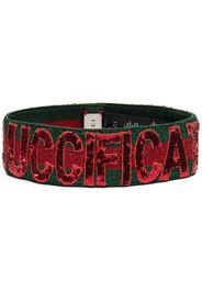 Gucci women's 4996793g0873174 green viscose headband