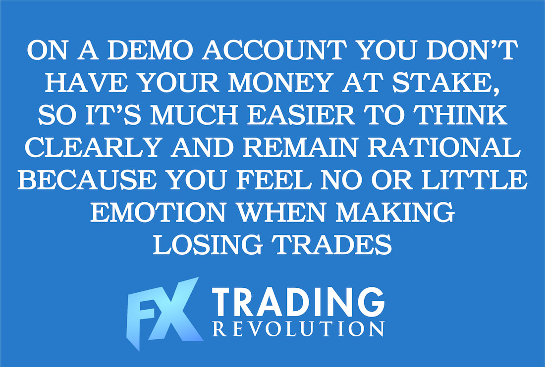 Forex demo vs real account: Psychological aspect