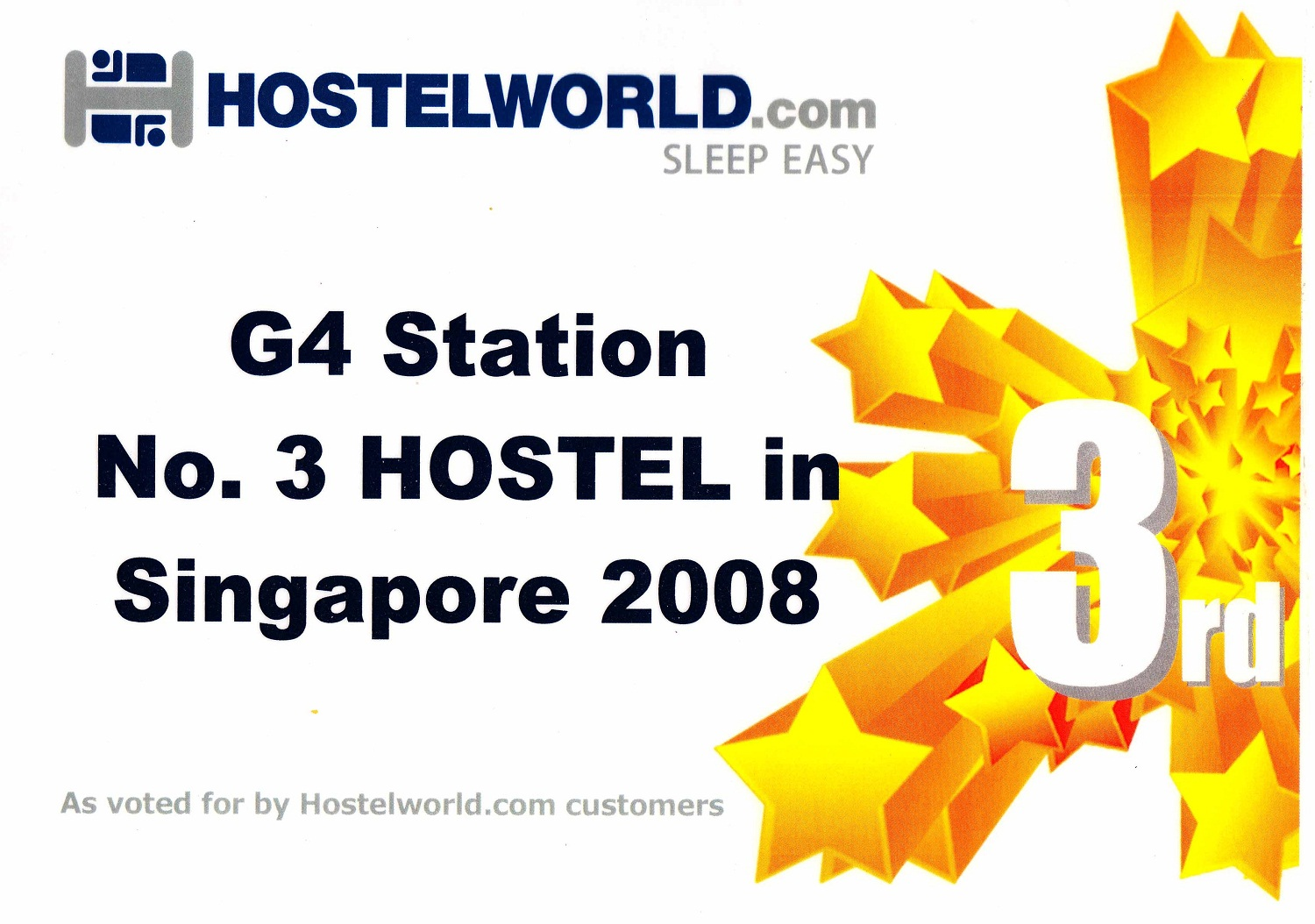 Accreditation from HostelWorld