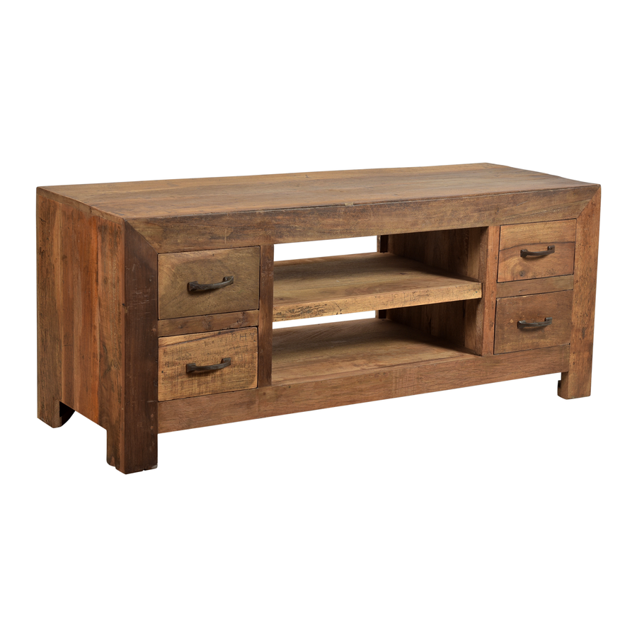Tv cabinet Milano 2 compartments 4 drawers