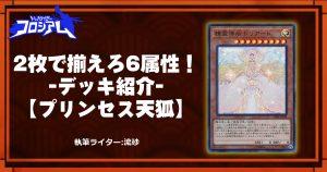 【第5回TWC】2枚で揃えろ6属性!-デッキ紹介-【プリンセス天狐】