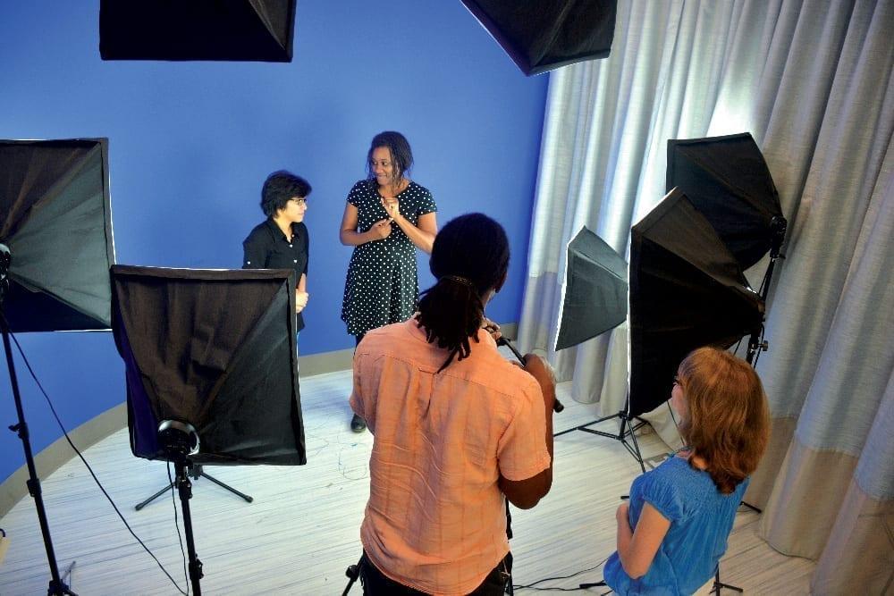 ASL class video recording