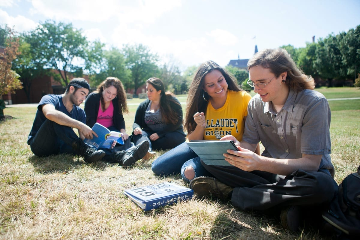 Students on campus outdoor
