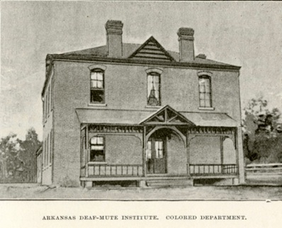 """The Arkansas School for the Deaf, """"Colored Department"""", Little Rock, AR founded in 1887"""