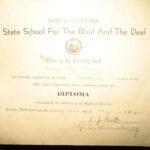 Mary Herring Wright's diploma