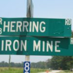 Road sign near Herring Wright home