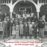 """Students at the """"Colored"""" Dept. building on ASD campus 1929"""