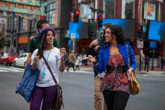 Students walking in Washington