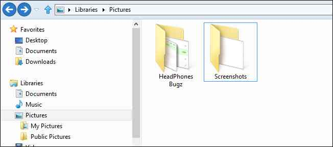 How to take screenshots on Windows 8 method 1 step 2