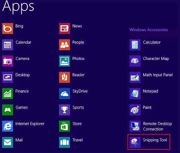 How to take screenshots on Windows 8 method 2 step 2