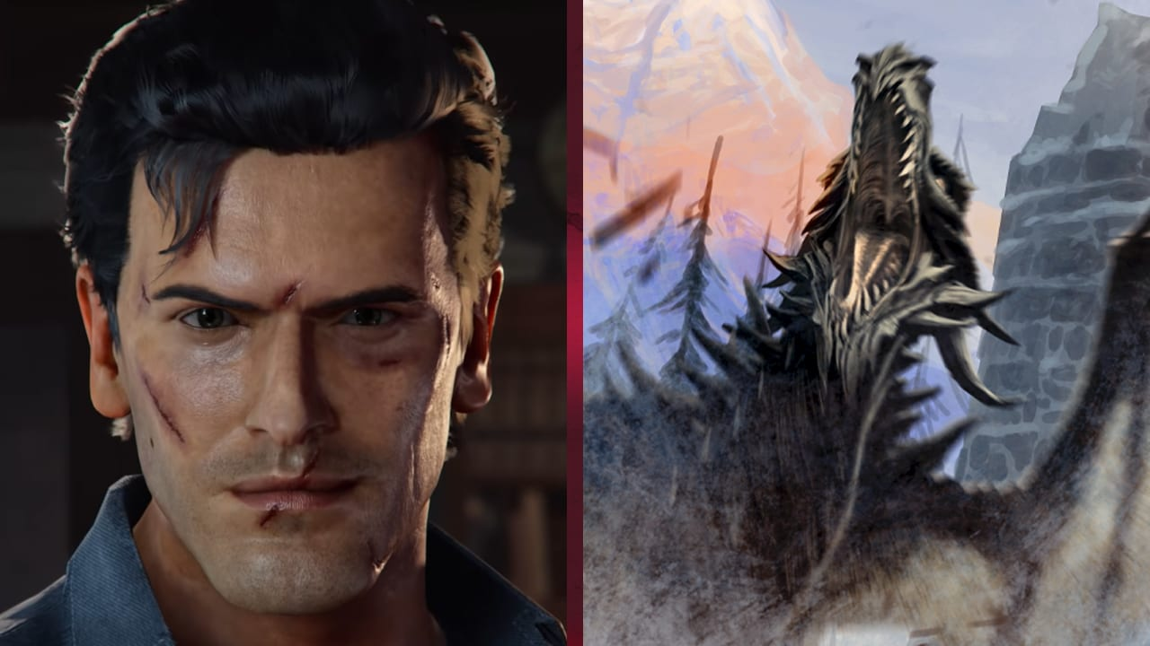 You Can Now Slay Dragons In Skyrim As Ash From The Evil Dead