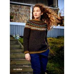 8f163807626 Ístex Opskrift: Islandsk sweater /multifarvet mønster, Model: DJÁSN ...