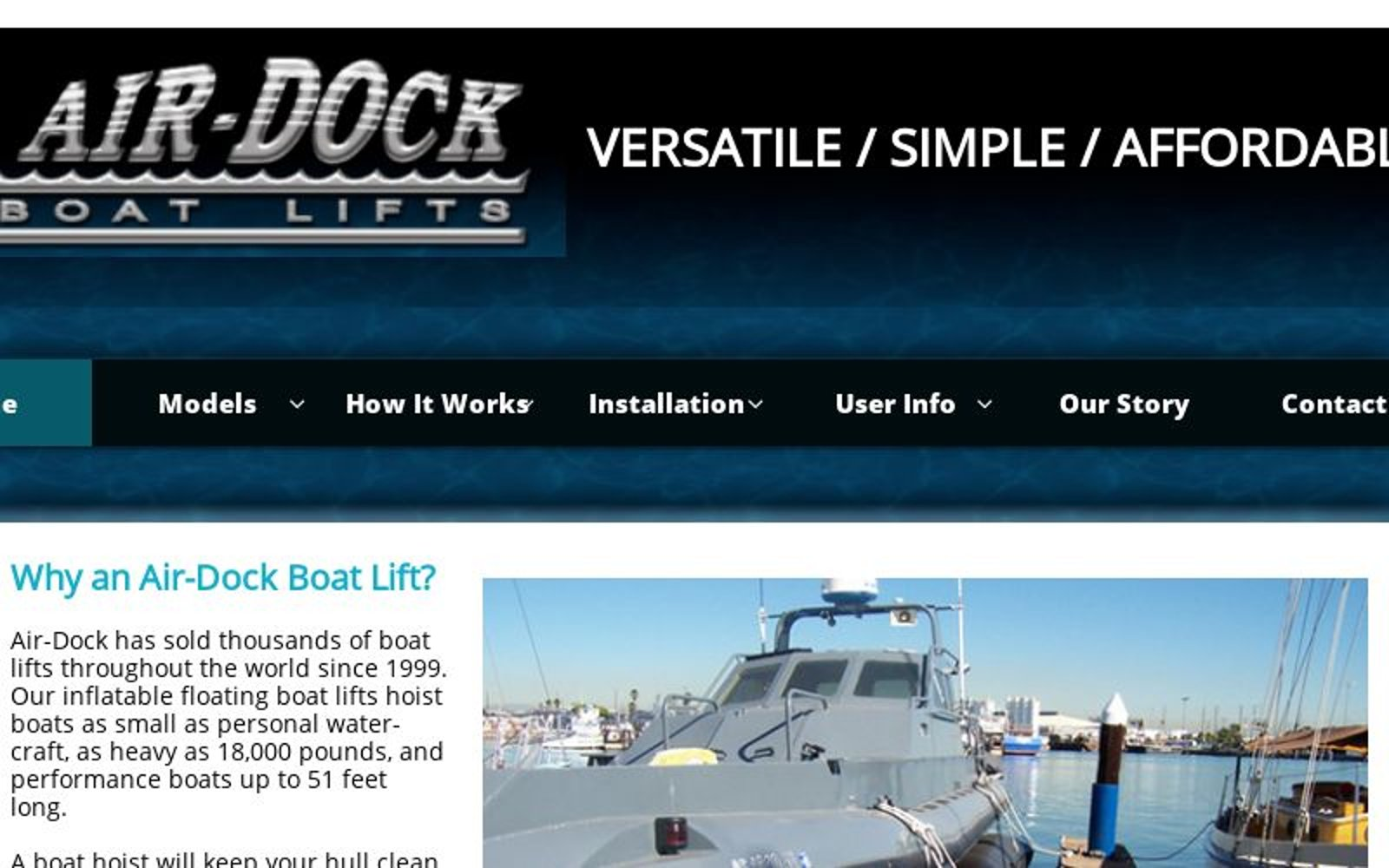 Air Dock Boat Lifts   Home
