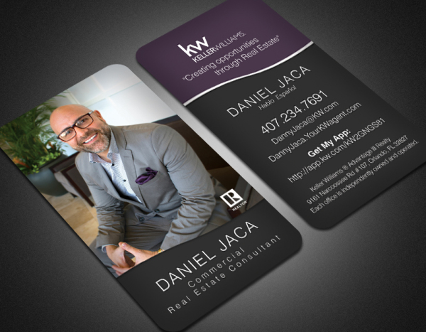 Portfolio business cards real estate agent vertical reheart Images