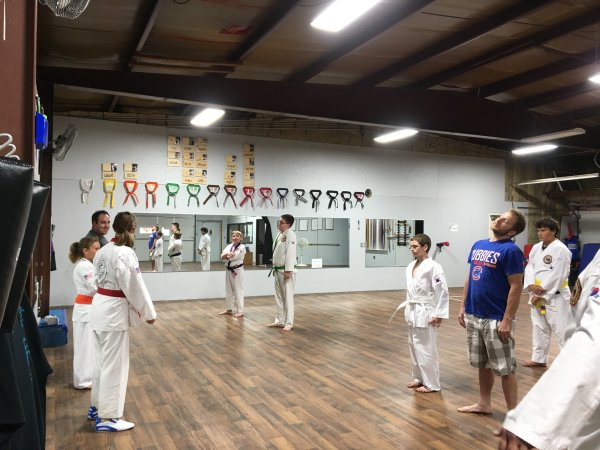 Class including Dads to celebrate fathers day