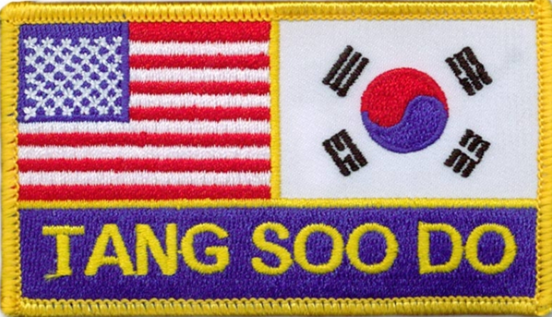 United States and Korean Flag with Tang Soo Do written underneath