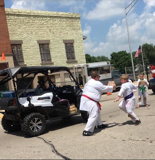 Cascade Karate members in the Cascade 4th of July Parade