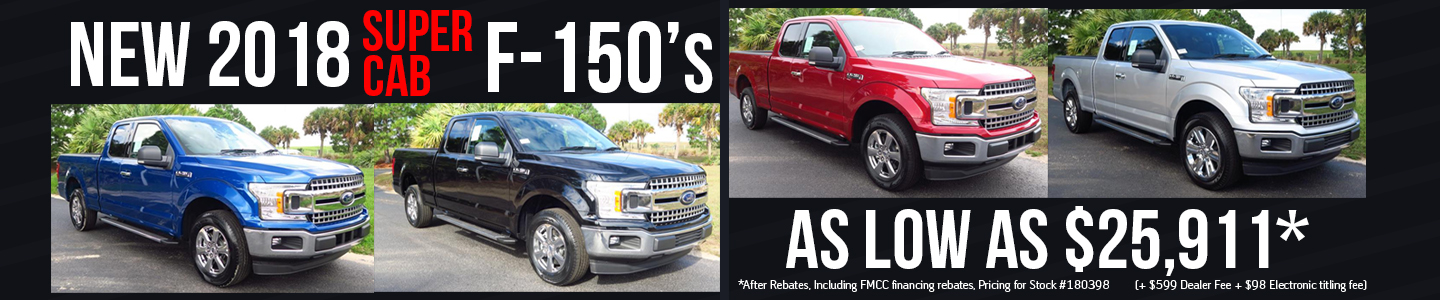 2018 F-150s Super Cab Group of four