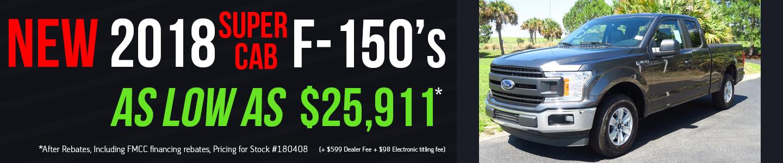 2018 F-150s Super Cab Single XL White 180332