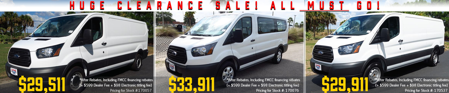 2017 Transits on Sale